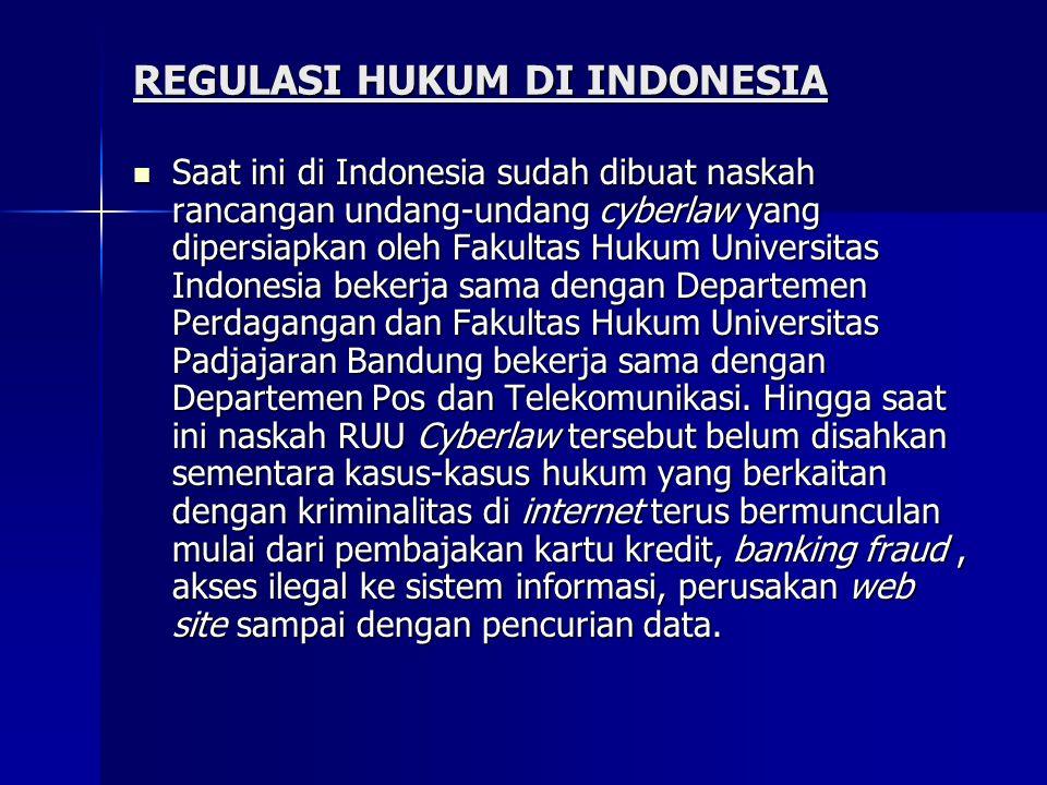 REGULASI HUKUM DI INDONESIA