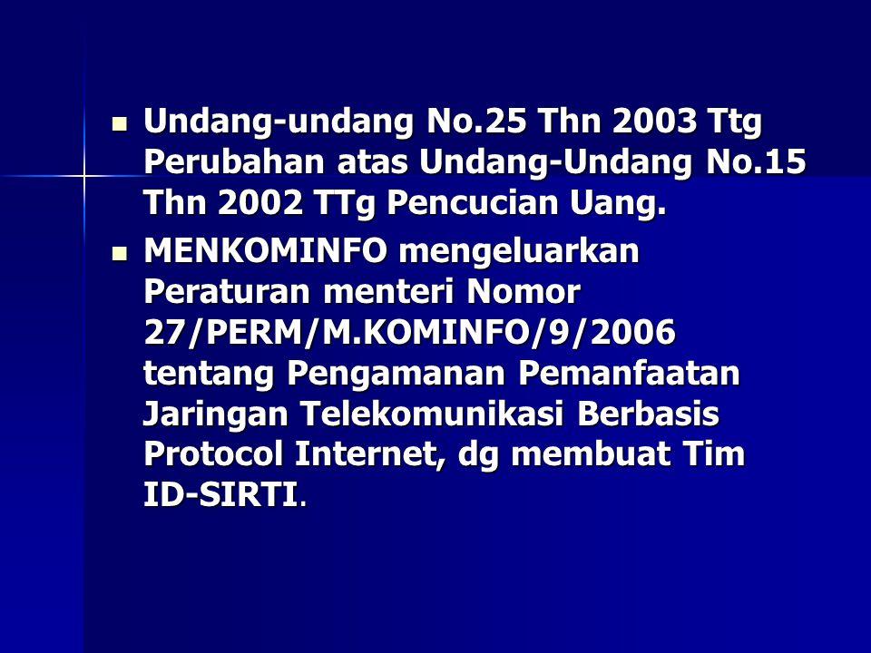 Undang-undang No. 25 Thn 2003 Ttg Perubahan atas Undang-Undang No