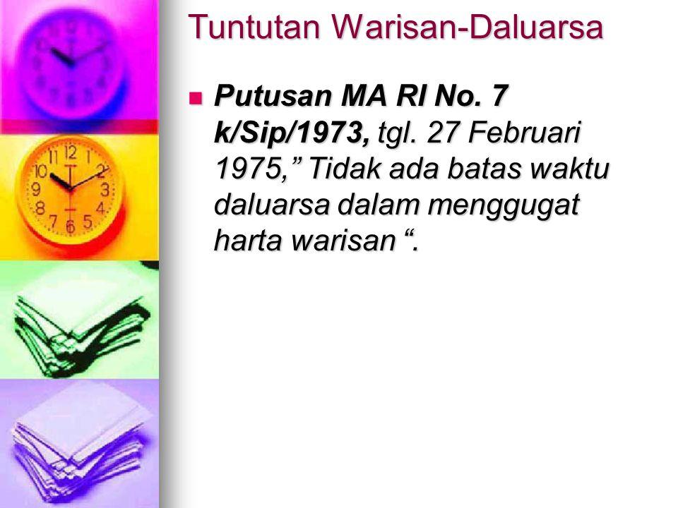 Tuntutan Warisan-Daluarsa