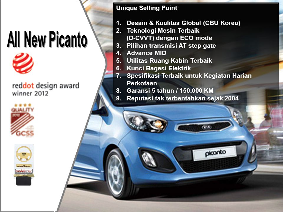 All New Picanto Unique Selling Point