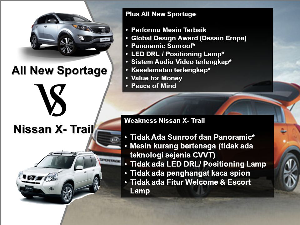 All New Sportage Nissan X- Trail