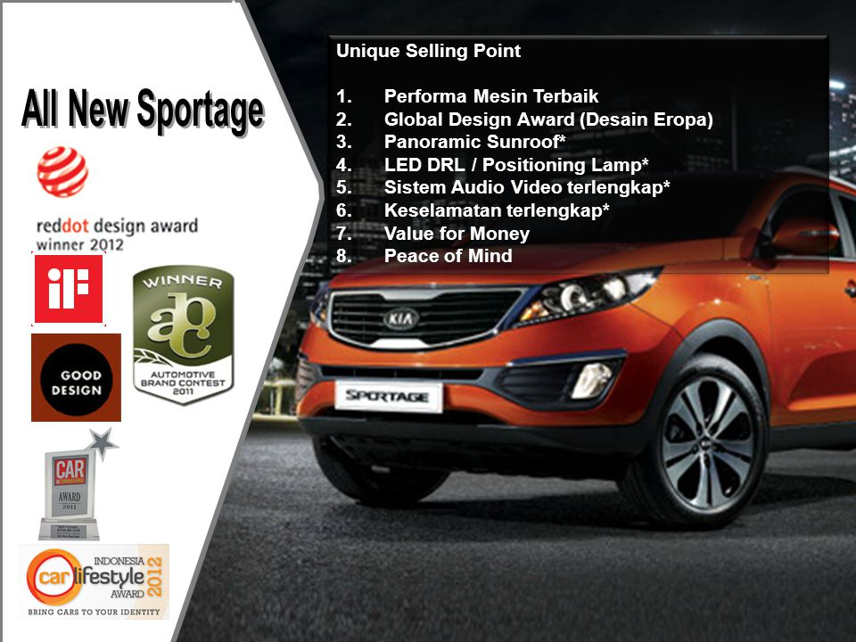 All New Sportage Unique Selling Point Performa Mesin Terbaik