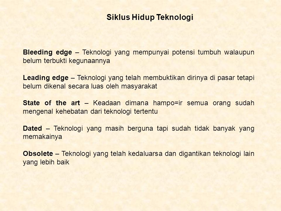 Siklus Hidup Teknologi