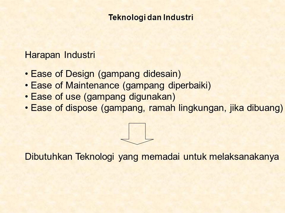 Ease of Design (gampang didesain)