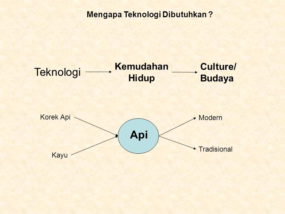 Teknologi Api Kemudahan Culture/ Hidup Budaya