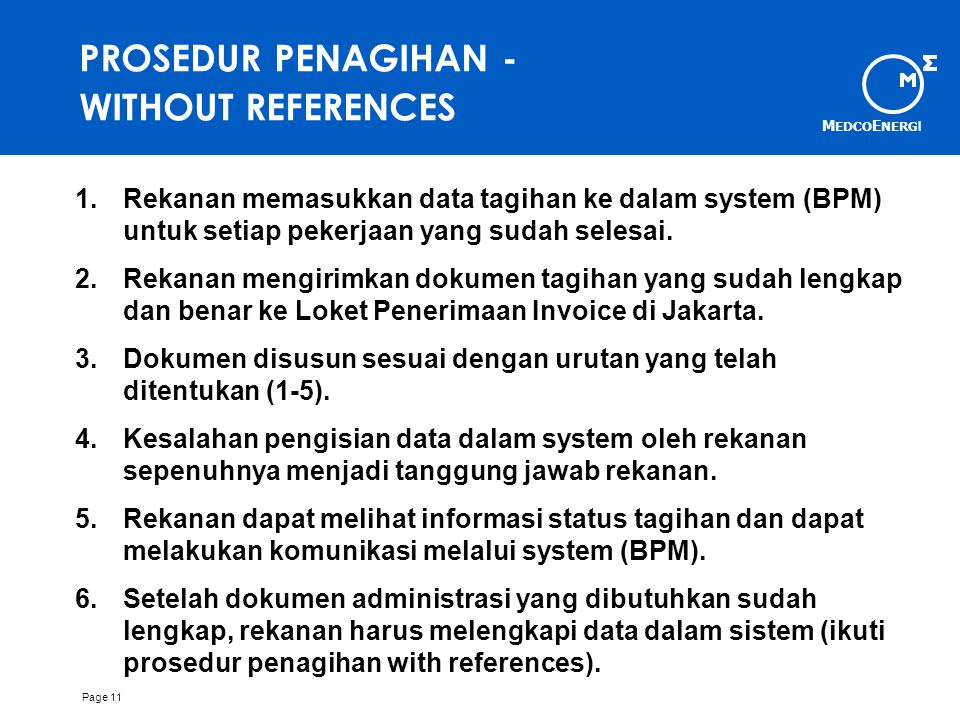 PROSEDUR PENAGIHAN - WITHOUT REFERENCES