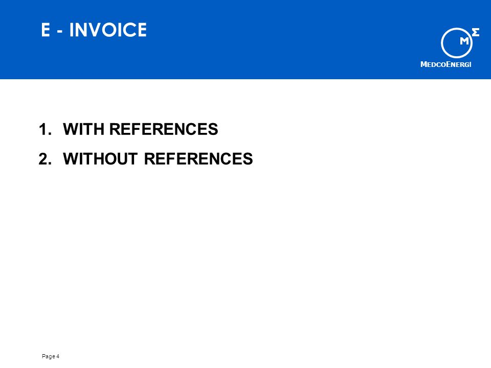 E - INVOICE WITH REFERENCES WITHOUT REFERENCES Page 4