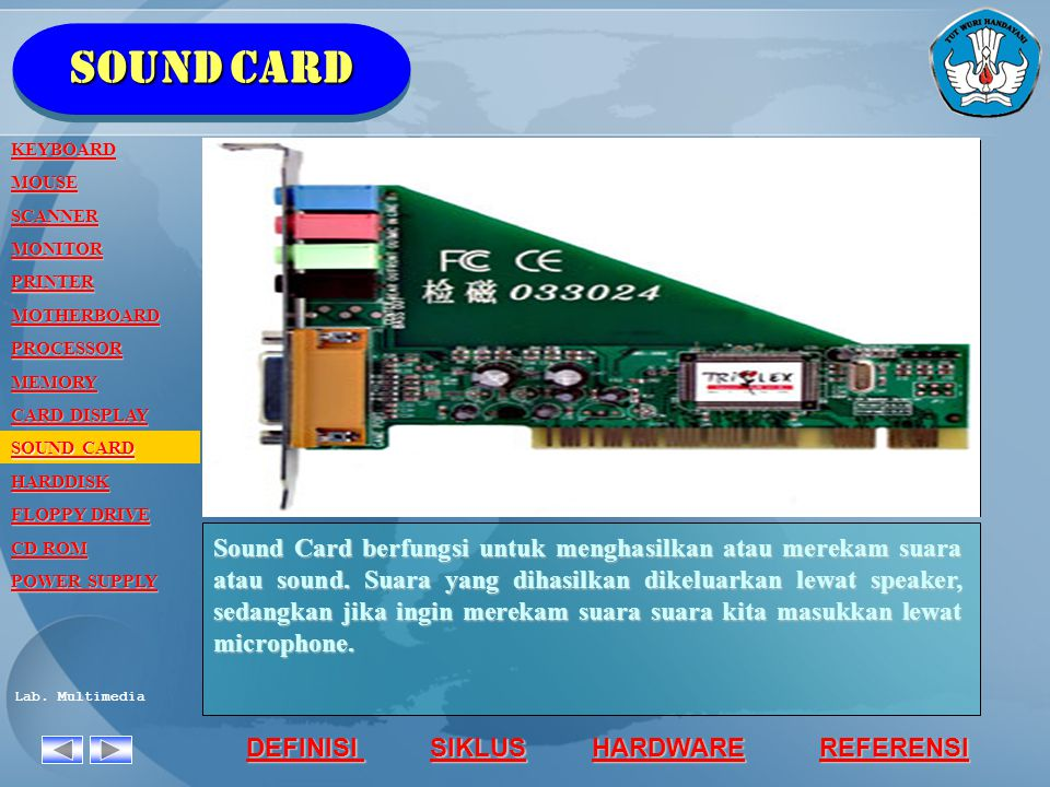 Sound card KEYBOARD. MOUSE. SCANNER. MONITOR. PRINTER. MOTHERBOARD. PROCESSOR. MEMORY. CARD DISPLAY.