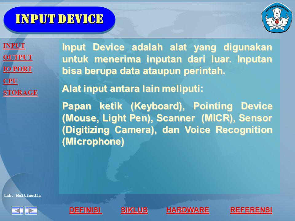 Input device INPUT. OUTPUT. IO PORT. CPU. STORAGE.