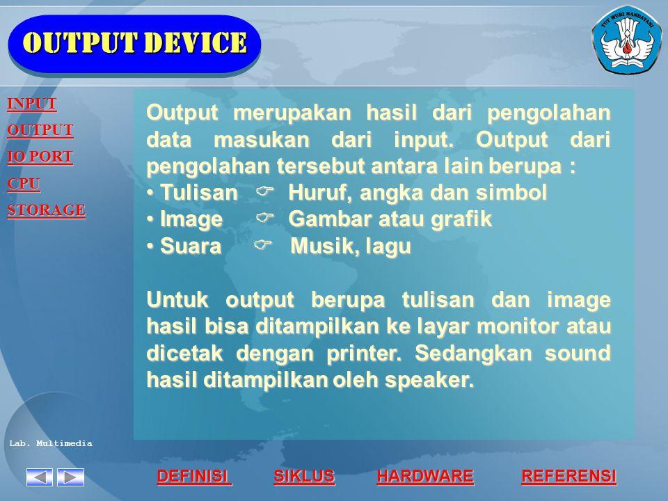 Output device INPUT. OUTPUT. IO PORT. CPU. STORAGE.