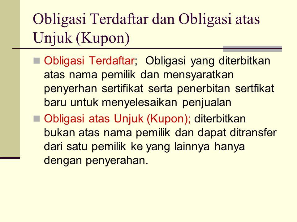 Obligasi Terdaftar dan Obligasi atas Unjuk (Kupon)