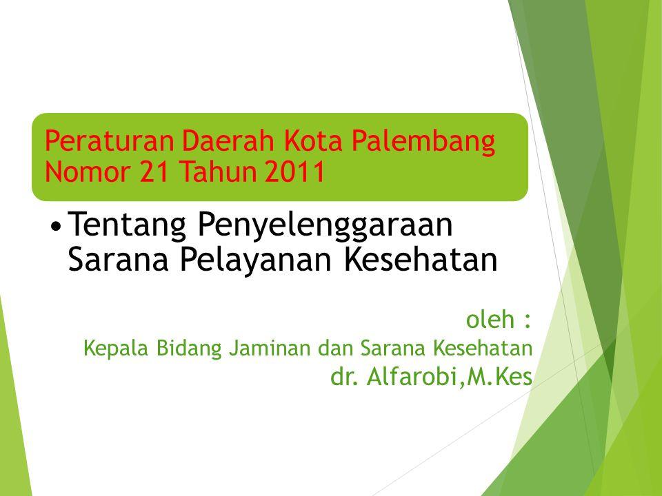 Peraturan Daerah Kota Palembang Nomor 21 Tahun 2011