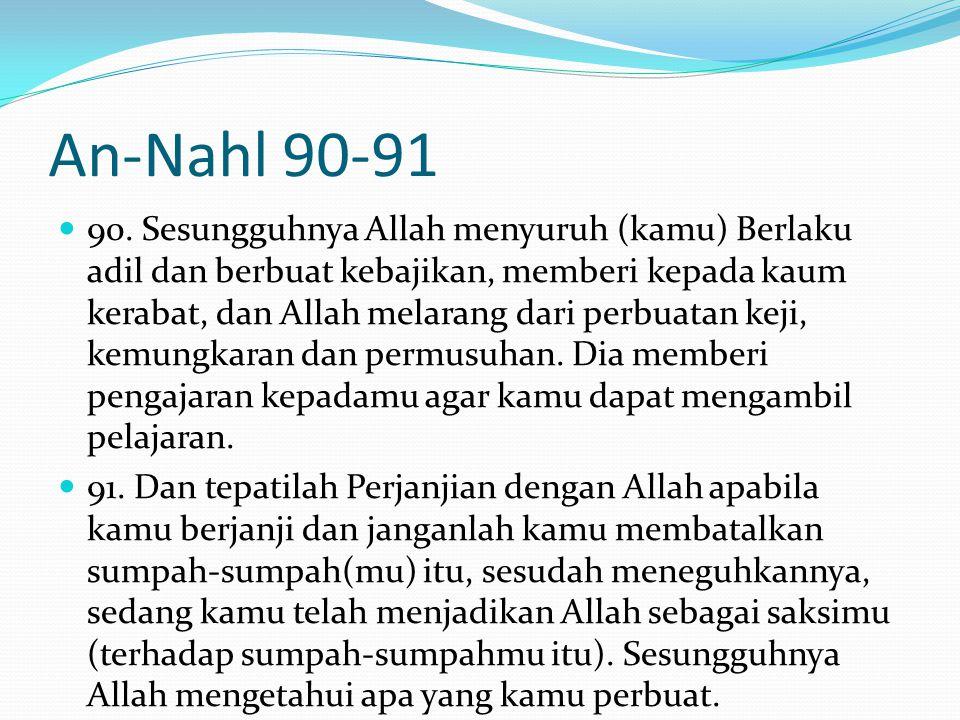 An-Nahl 90-91