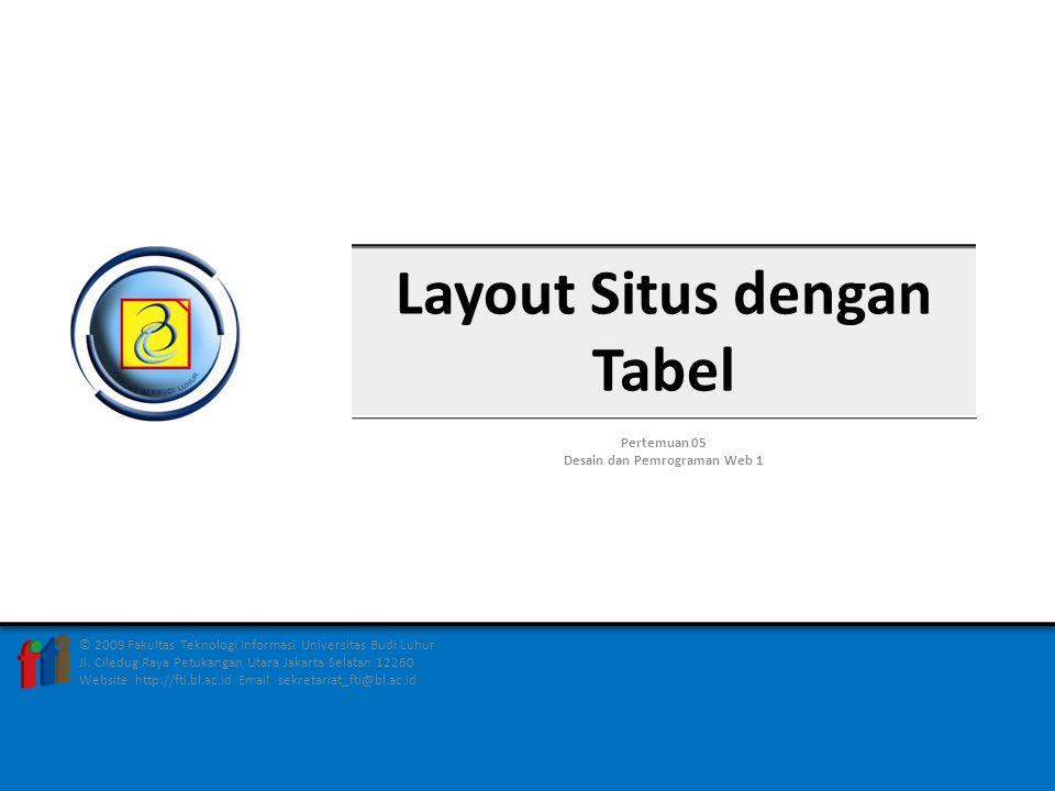 Layout Situs dengan Tabel