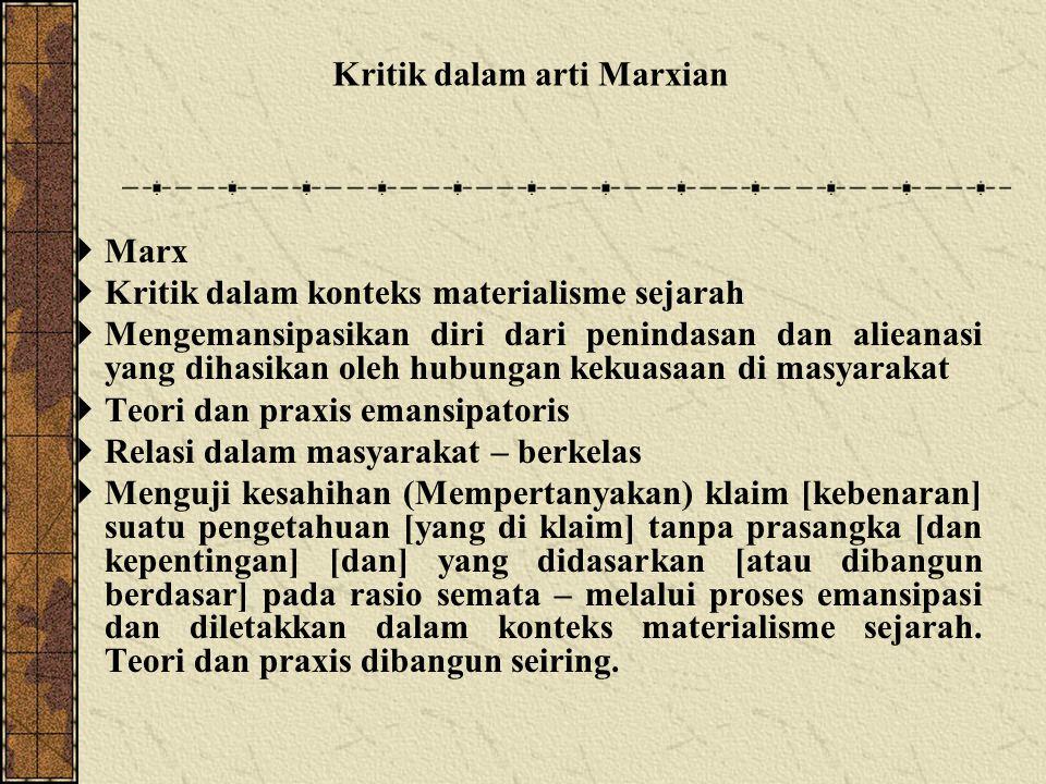 Kritik dalam arti Marxian