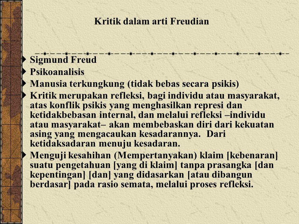 Kritik dalam arti Freudian