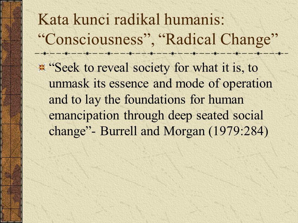 Kata kunci radikal humanis: Consciousness , Radical Change
