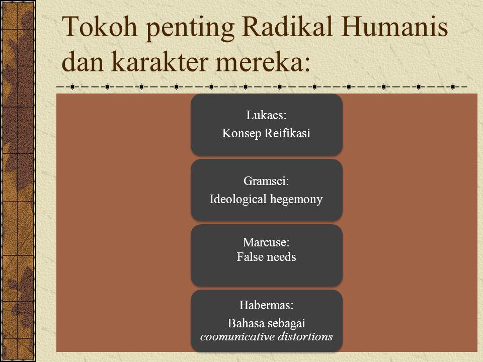 Tokoh penting Radikal Humanis dan karakter mereka: