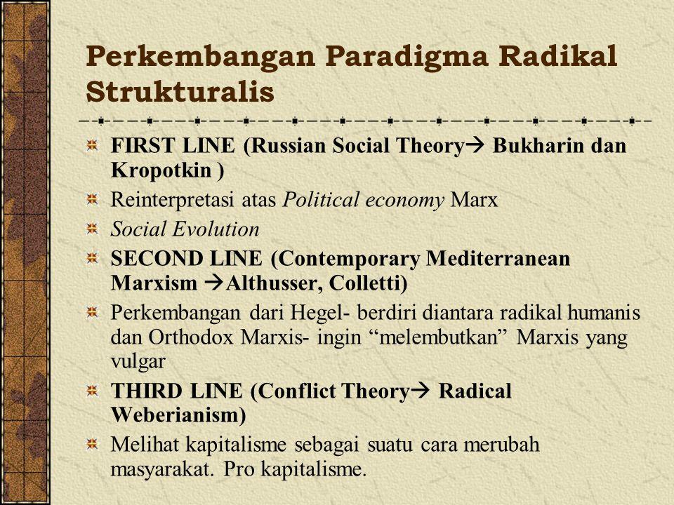 Perkembangan Paradigma Radikal Strukturalis