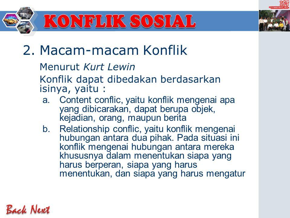 Macam-macam Konflik Menurut Kurt Lewin