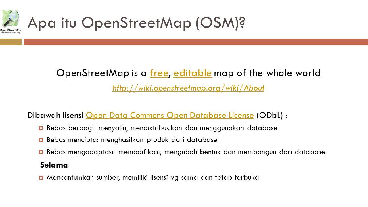 Apa itu OpenStreetMap (OSM)
