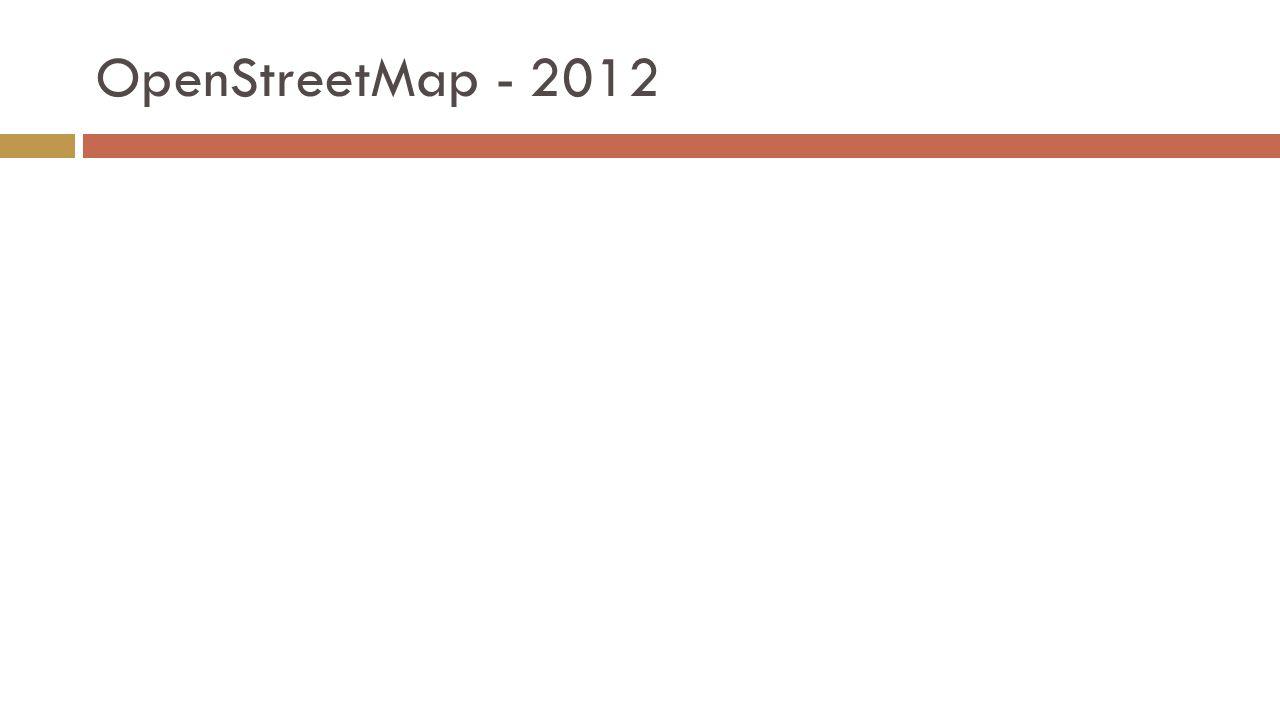 OpenStreetMap - 2012