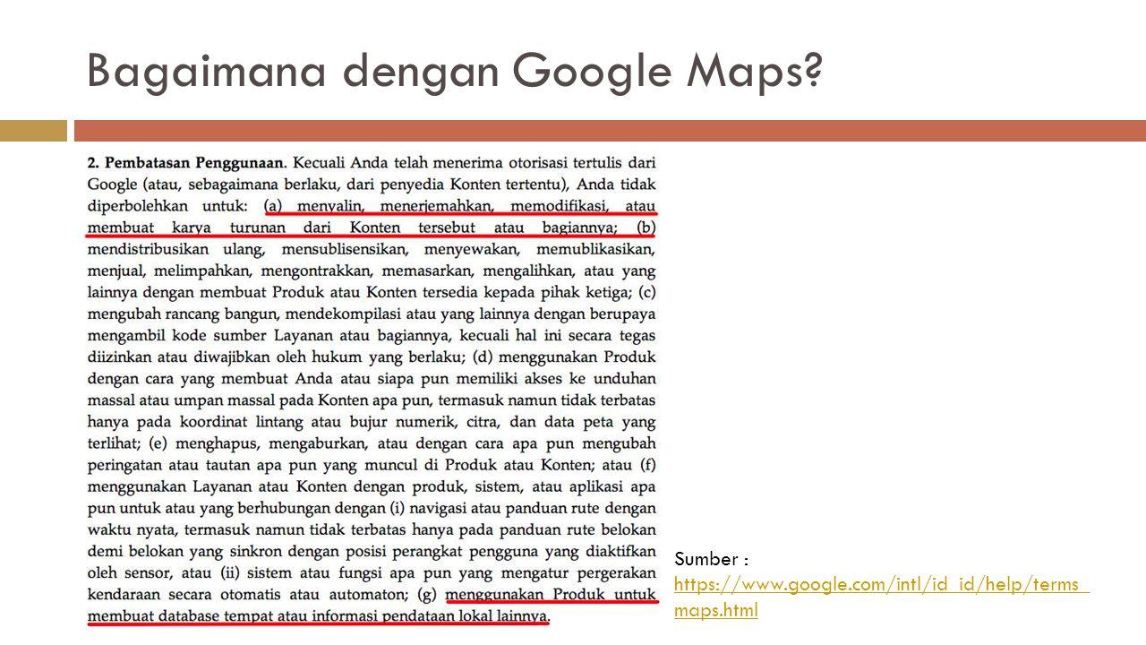 Bagaimana dengan Google Maps