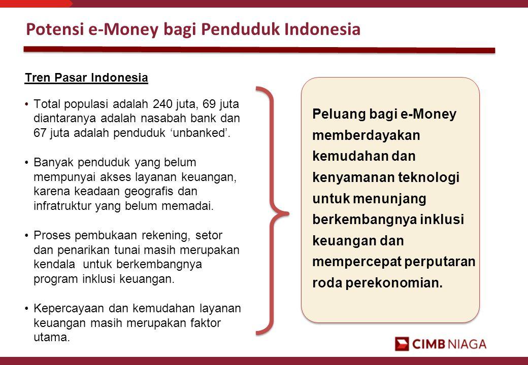 Potensi e-Money bagi Penduduk Indonesia