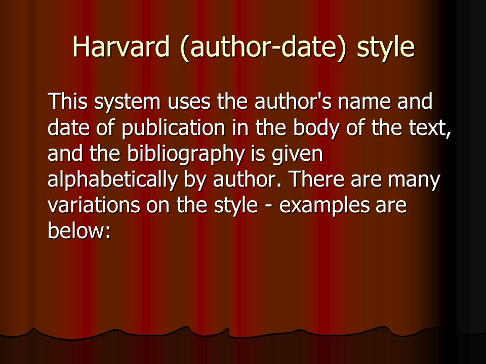 Harvard (author-date) style