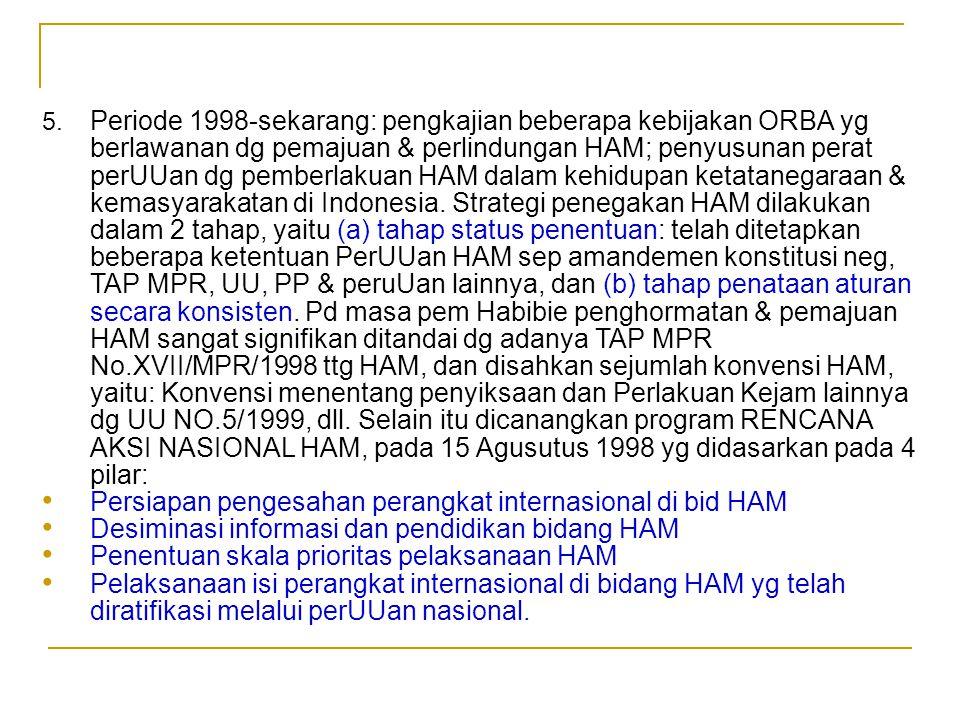 Persiapan pengesahan perangkat internasional di bid HAM