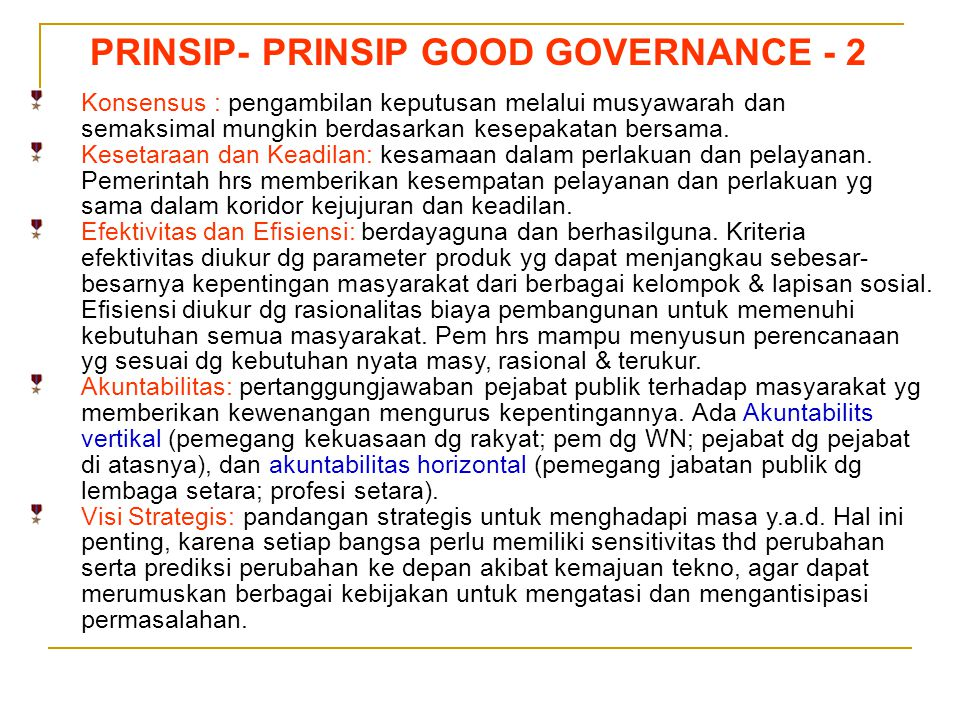 PRINSIP- PRINSIP GOOD GOVERNANCE - 2