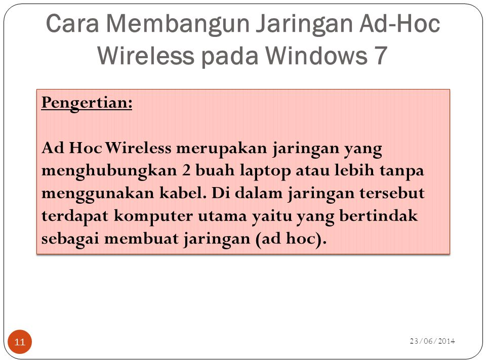 Cara Membangun Jaringan Ad-Hoc Wireless pada Windows 7