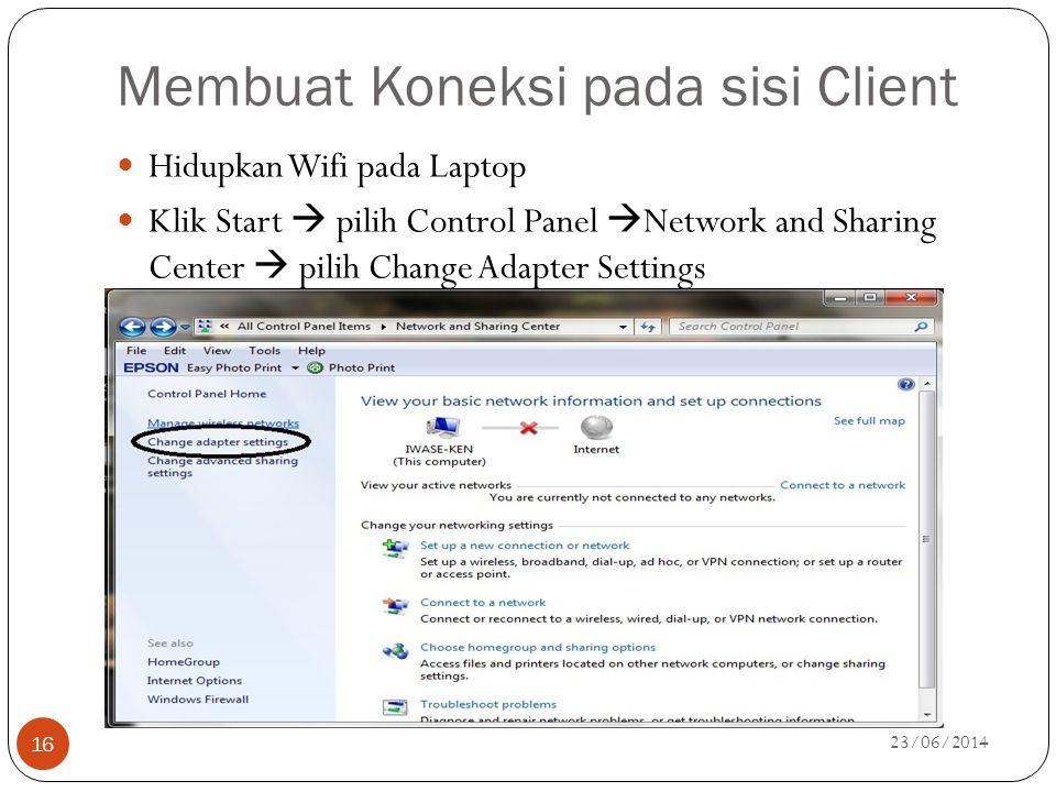 Membuat Koneksi pada sisi Client