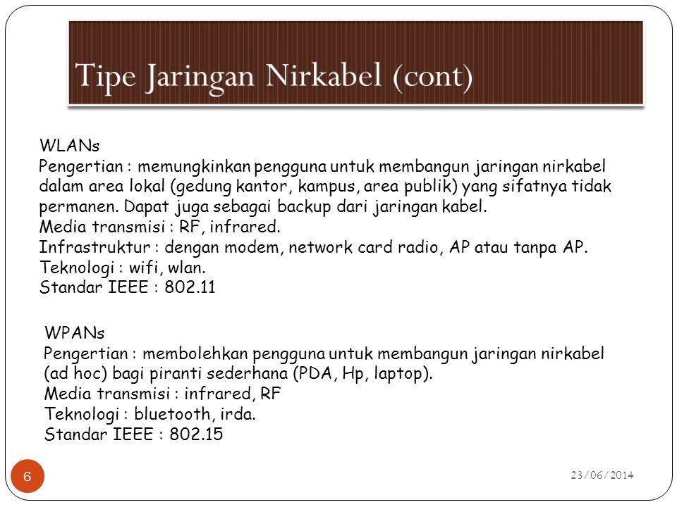 Tipe Jaringan Nirkabel (cont)