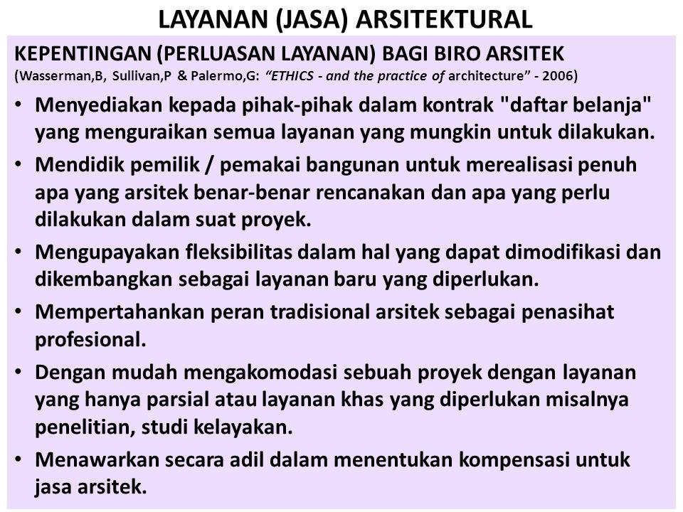 LAYANAN (JASA) ARSITEKTURAL