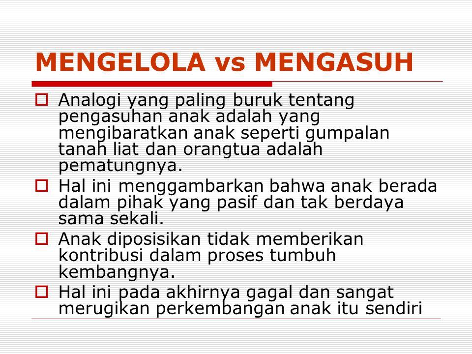 MENGELOLA vs MENGASUH