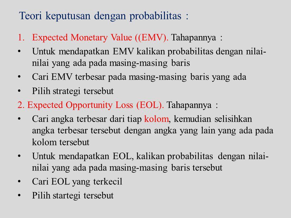Teori keputusan dengan probabilitas :