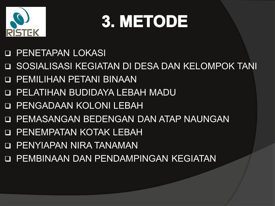 3. METODE PENETAPAN LOKASI