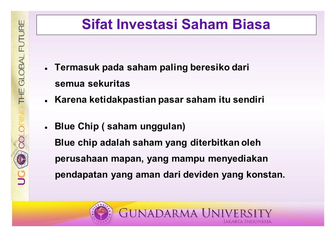 Sifat Investasi Saham Biasa