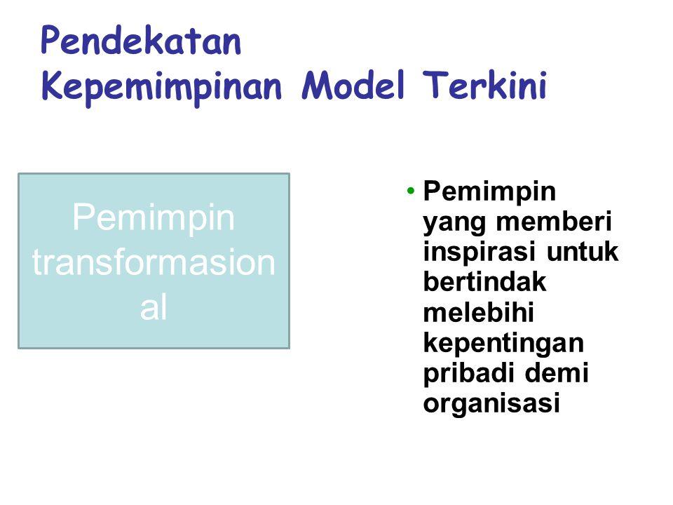 Pendekatan Kepemimpinan Model Terkini