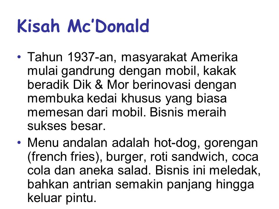 Kisah Mc'Donald