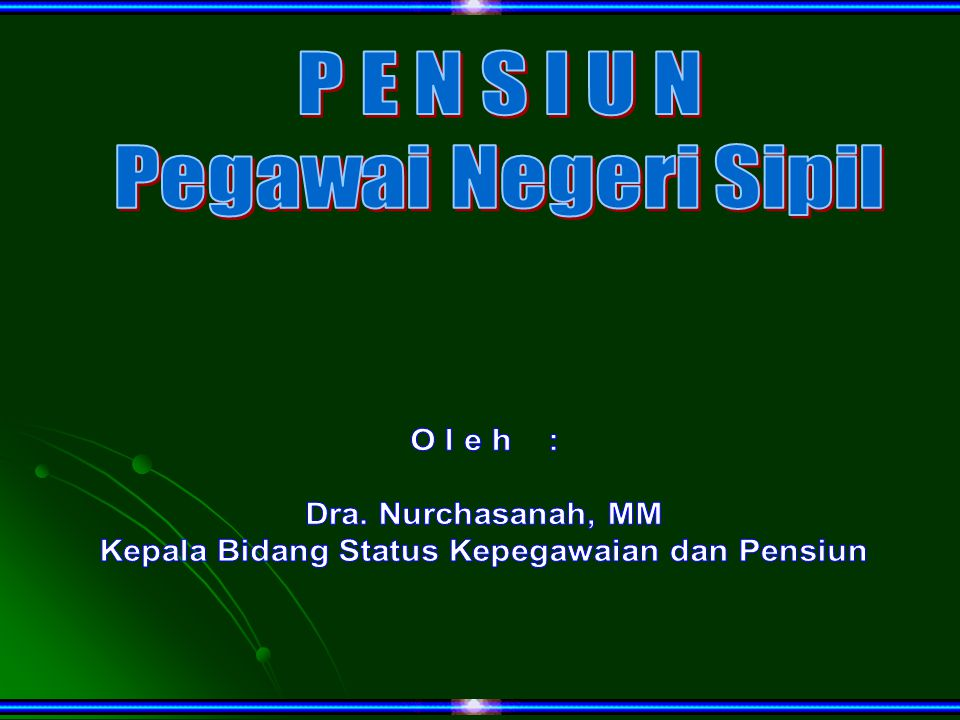 Kepala Bidang Status Kepegawaian dan Pensiun
