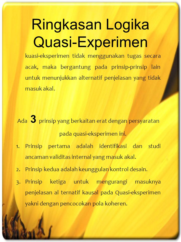Ringkasan Logika Quasi-Experimen
