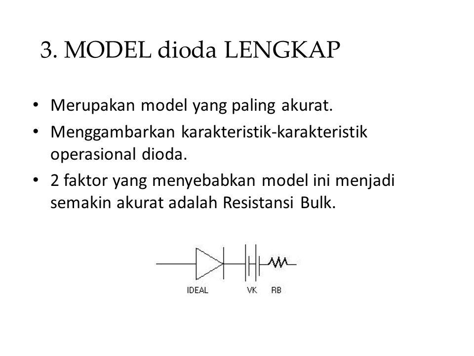 3. MODEL dioda LENGKAP Merupakan model yang paling akurat.