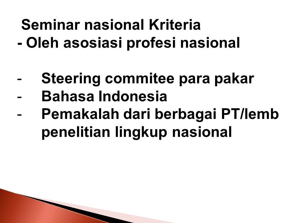 Seminar nasional Kriteria