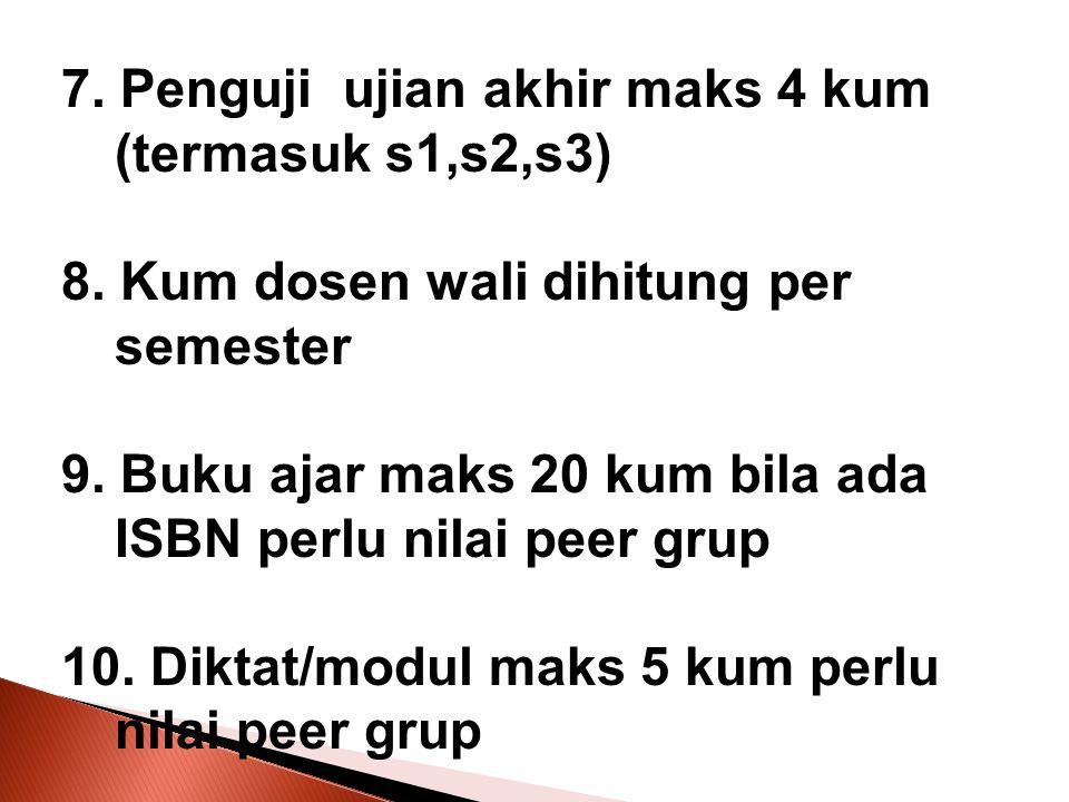 7. Penguji ujian akhir maks 4 kum (termasuk s1,s2,s3)