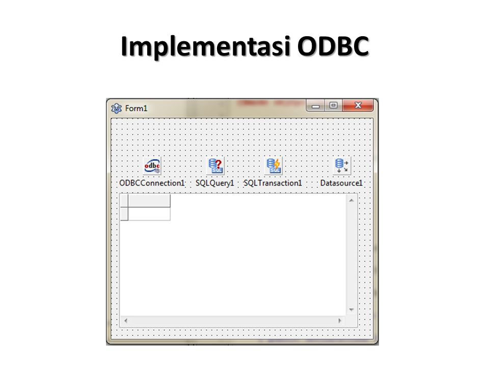 Implementasi ODBC
