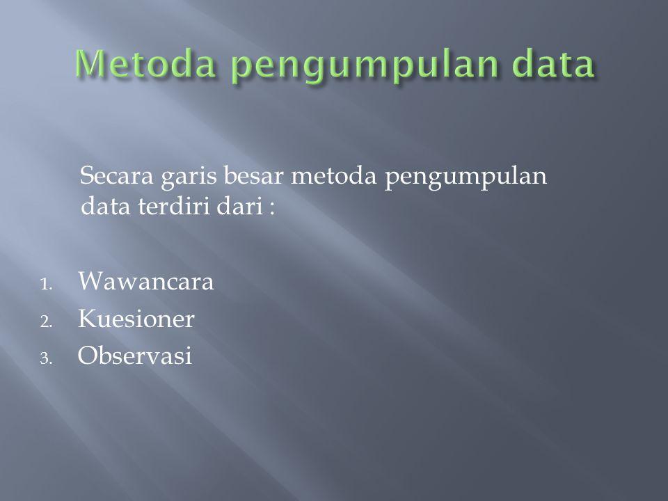 Metoda pengumpulan data