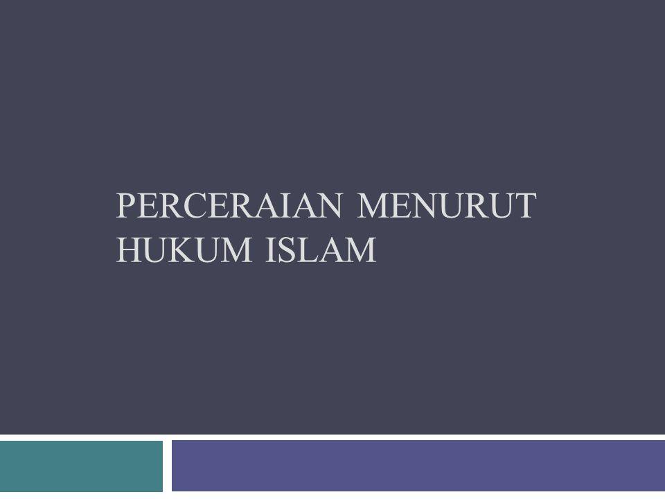 Perceraian Menurut Hukum Islam