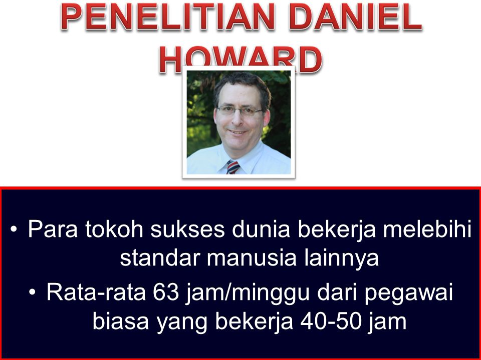 Penelitian Daniel Howard